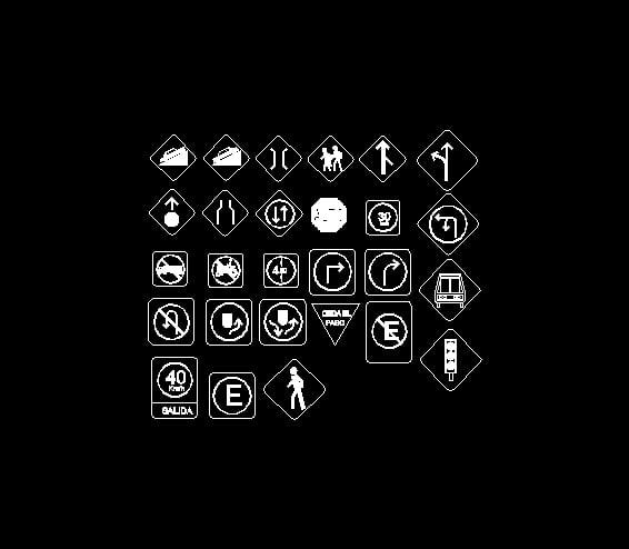 simbologia de vialidades