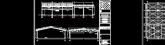 plano de techumbre metalica escuela primaria
