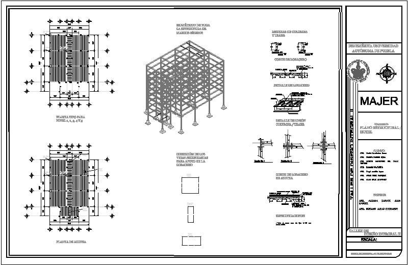 Plano Estructural De Un Hotel