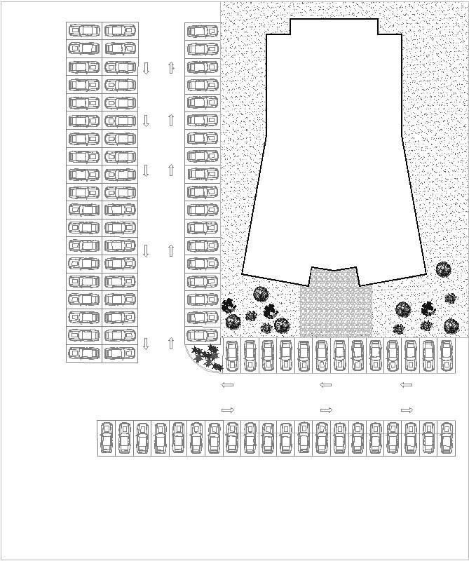 Estacionamiento para un terreno de un teatro