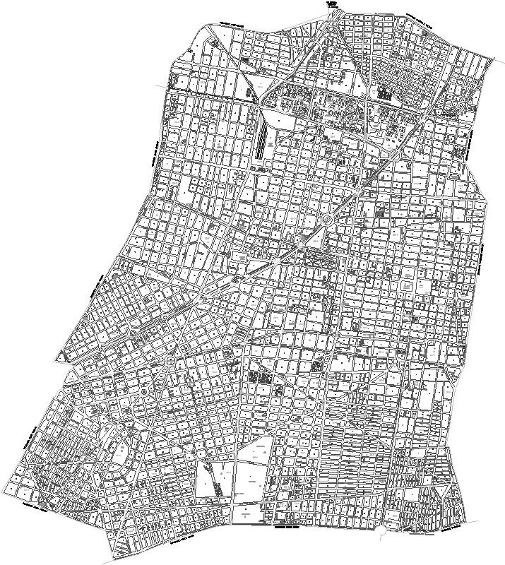 Delegacion Cuauhtemoc Mexico DF plano de calles