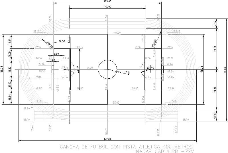 plano de estadio
