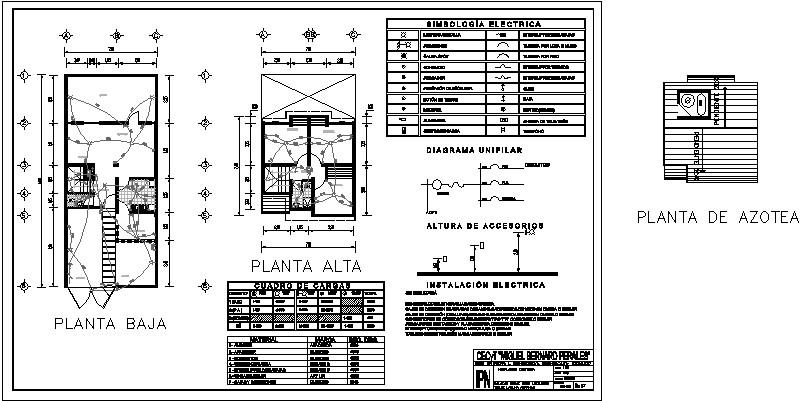 plano eléctrico de casa