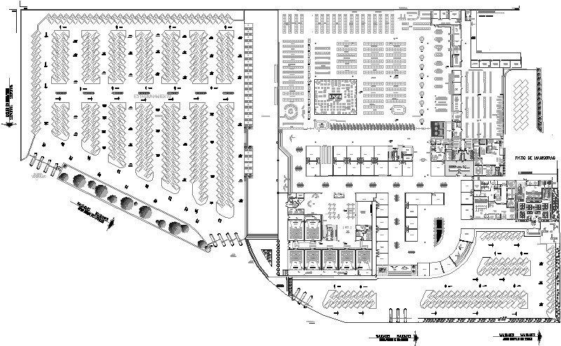 Plano estructuras De Centro comercial