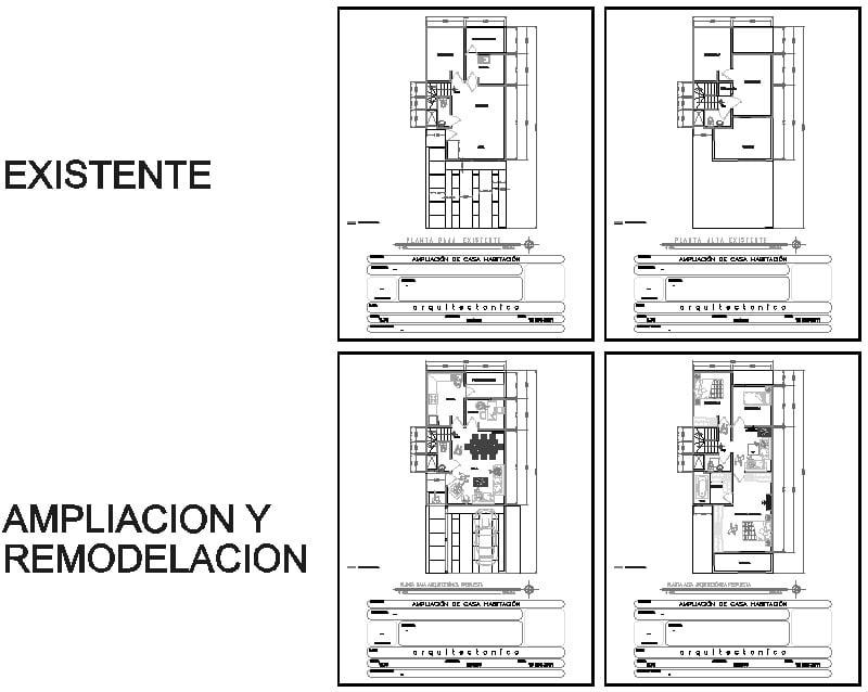 Plano Ampliación de Casa 40m2