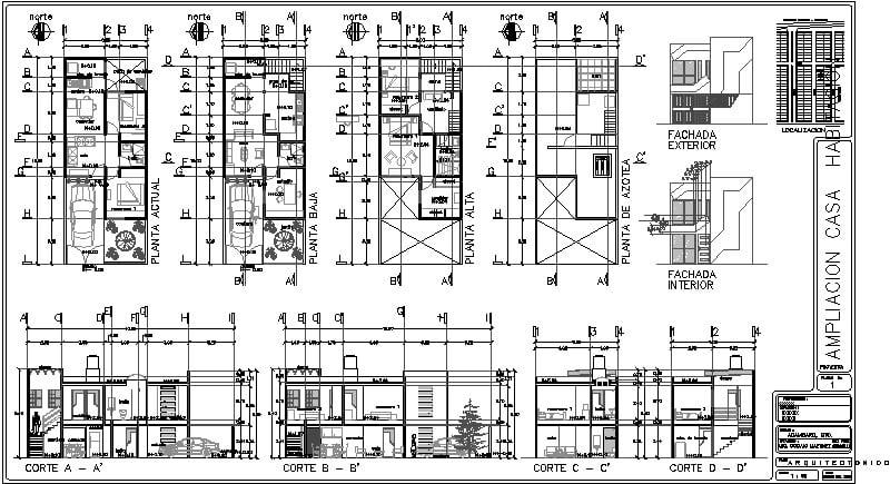casa habitación 6X15 mts