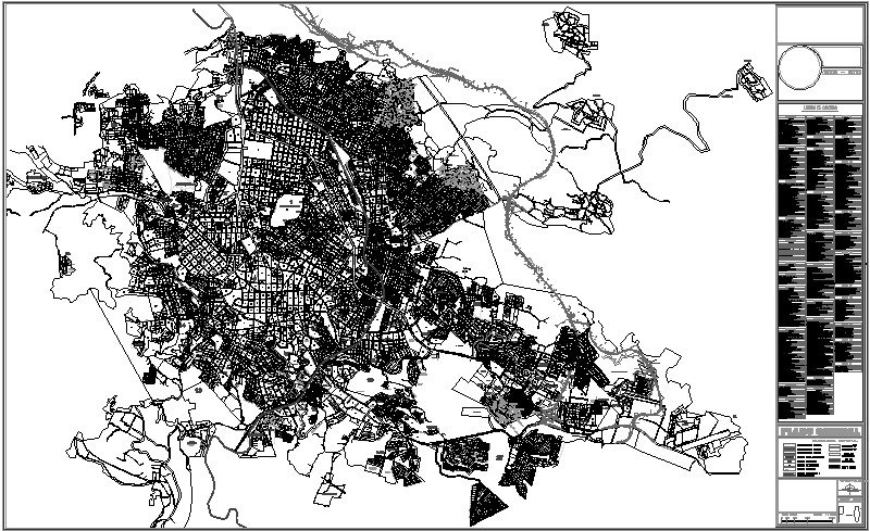 Plano de la Cd. de Xalapa