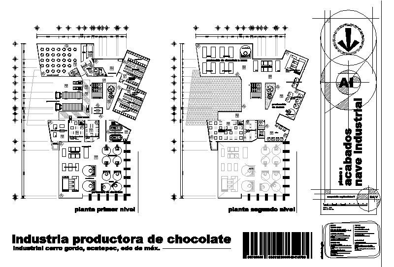 Planta general de industria de Chocolate
