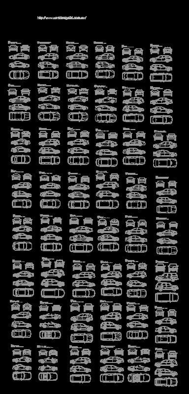 bloques de autos de lujo