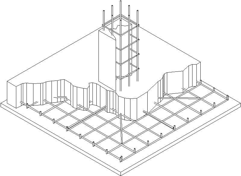 Detalle De Columna Isometrica