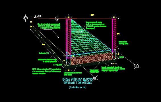 Rampa para cochera planta sótano