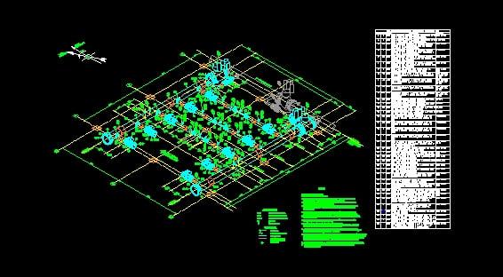 Tuberia de gas Regulacion isometrico