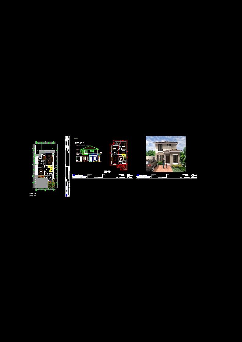 Descarga Gratis Villa Modelo Planos Y Bloques En