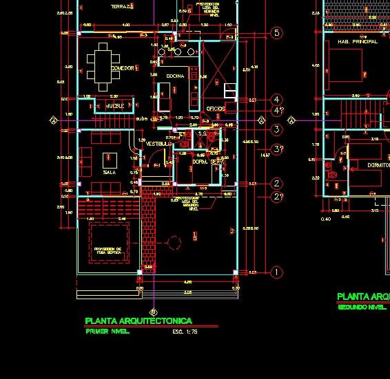 Descarga Gratis Casa De Habitacion Planos Y Bloques En