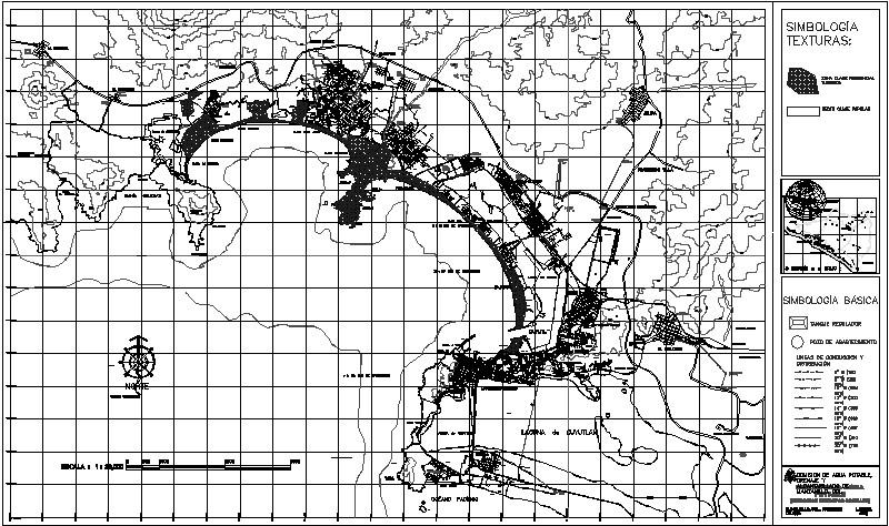 Distribución de Red hidráulica de Manzanillo (CAPDAM)