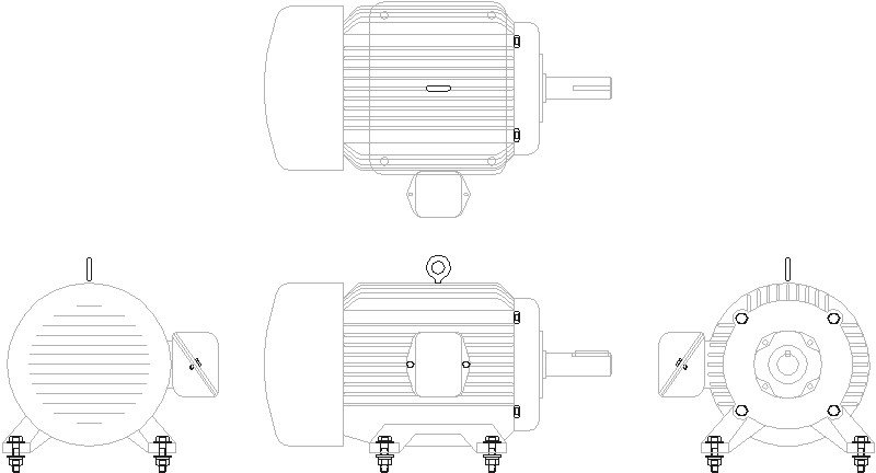 Motor Eléctrico Frame