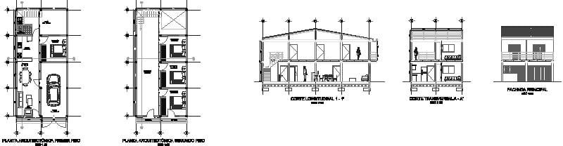 Planos vivienda de dos pisos