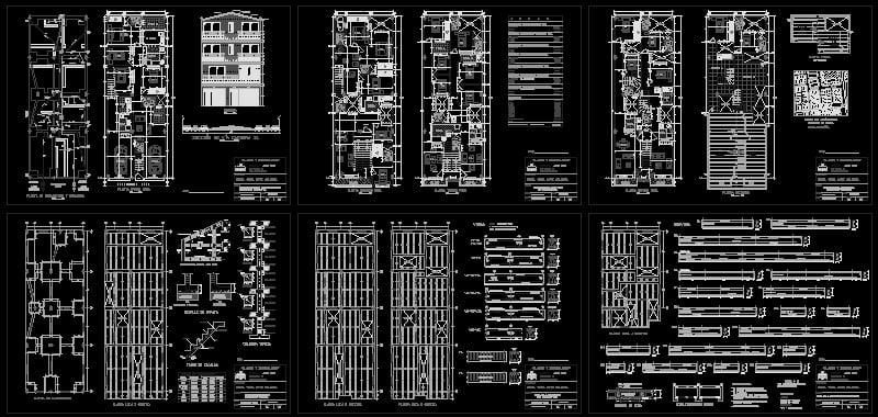 planos edificación 4 pisos