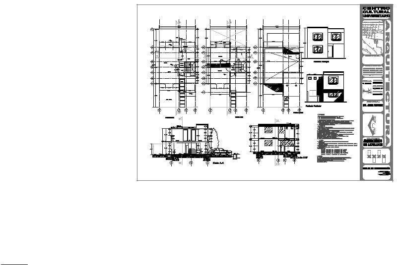 plano de acabados casa 7 x 15