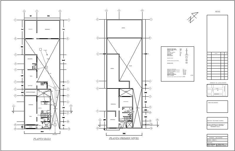 Plano Arquitectonico Instalación Sanitaria