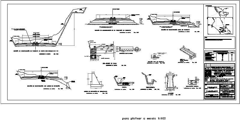 Secciones tipo y obras de drenaje