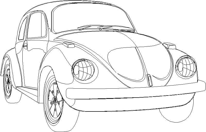 Bloque de auto Vocho de Volkswagen