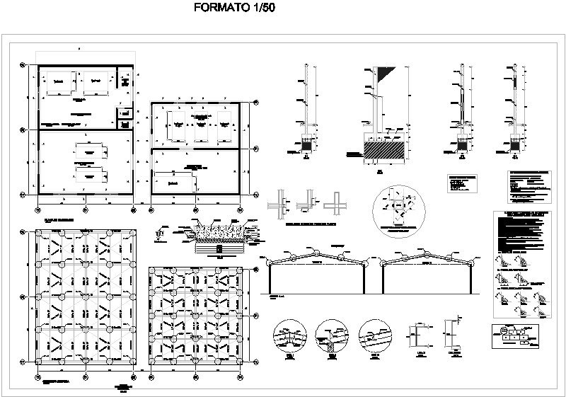 detalle estructural de servicios generales