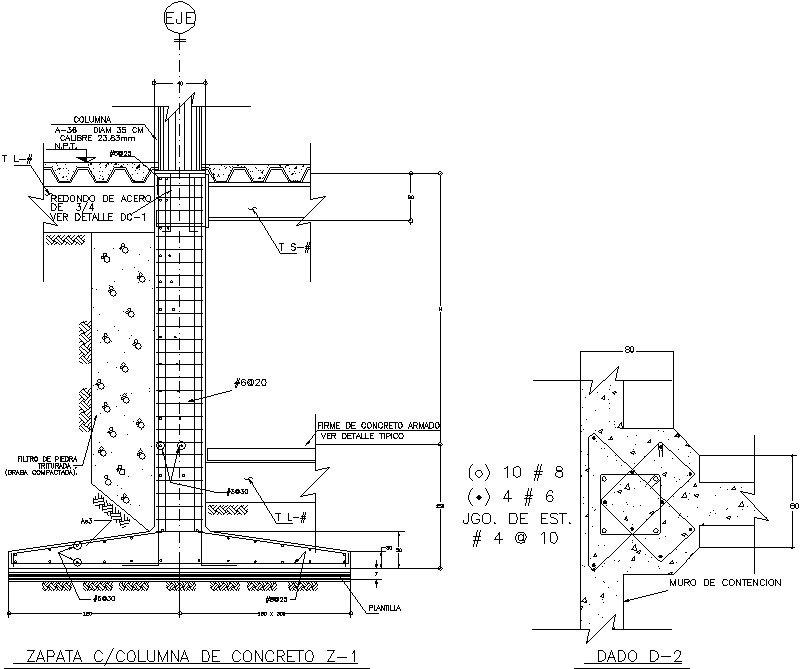 Zapata de Concreto con Columna de Concreto.dwg