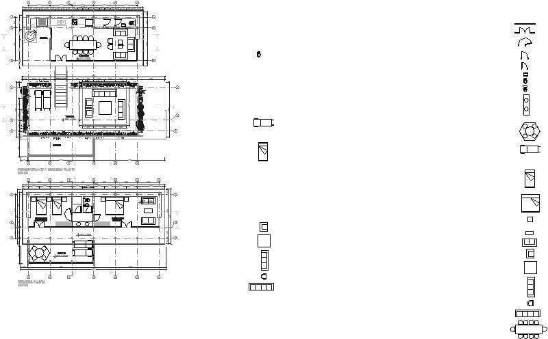 Plano De casa de dos niveles