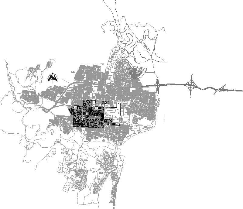 Santa Tecla, mapa urbano