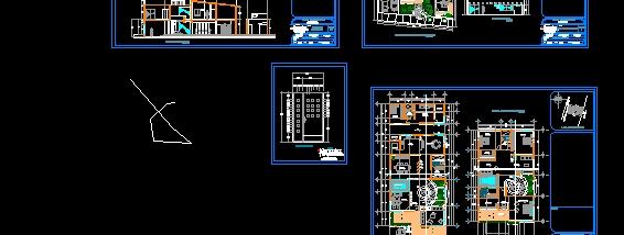 descarga gratis casa moderna planos y bloques en