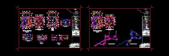 Plano de instalación hidraulica y sanitaria Casa-Habitacion