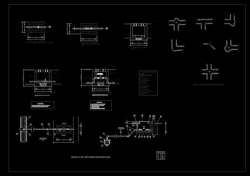 Plano Detalle De Valvula Y Conexiones Domiciliarias