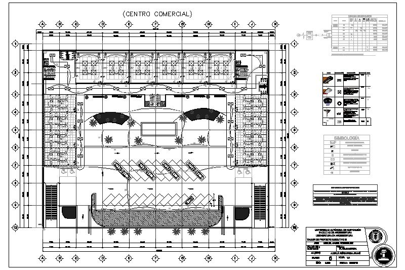 Plano Plaza Comercial