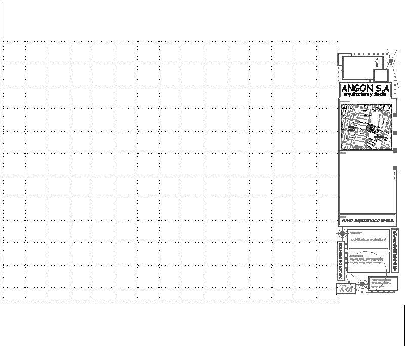 cuadrícula para presentación de plano, pie de plano