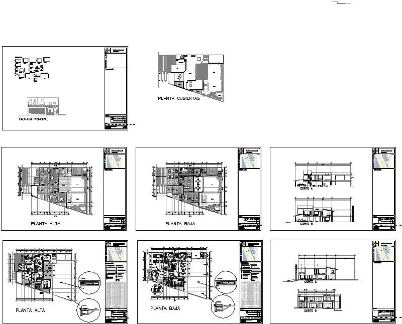 Planta arquitectónica y eléctrico casa playa