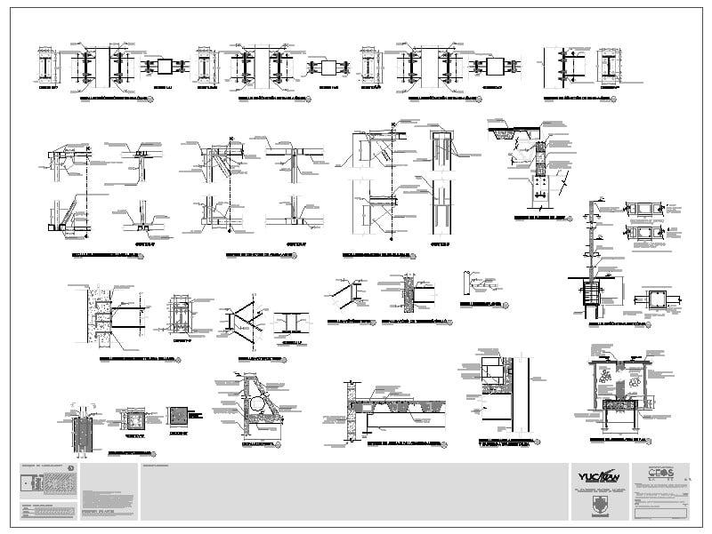 detalles estructurales y de secciones