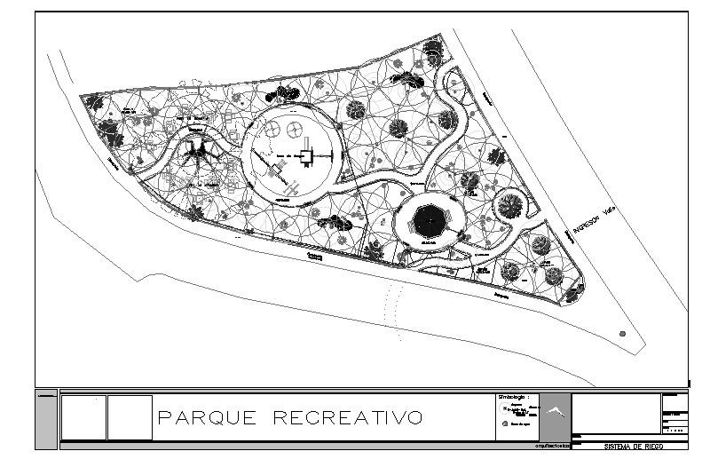 sistema de riego en parque