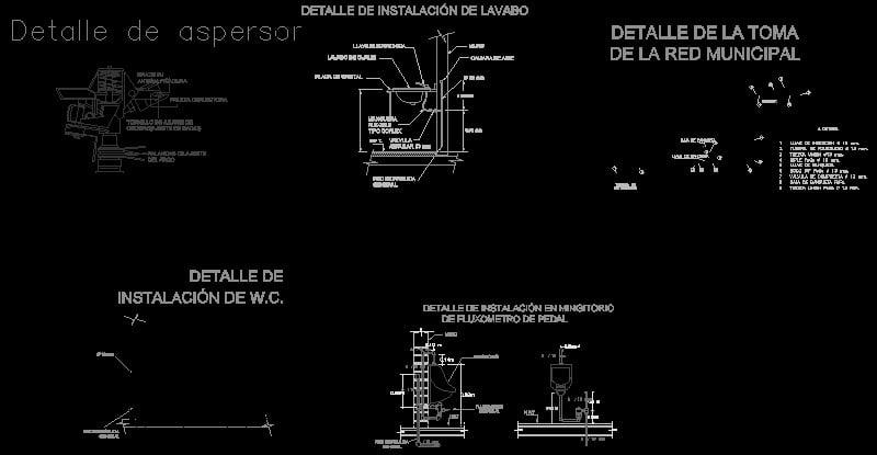 instalación hidráulica de un centro comercial