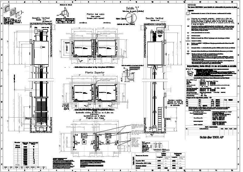 elevador schindler guía mecánica