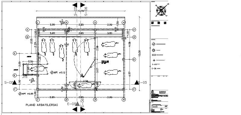 isometrico de granja de toros
