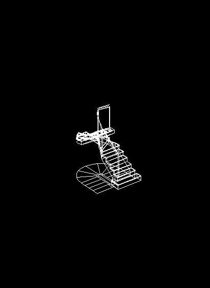 Escalera 3D giro radial
