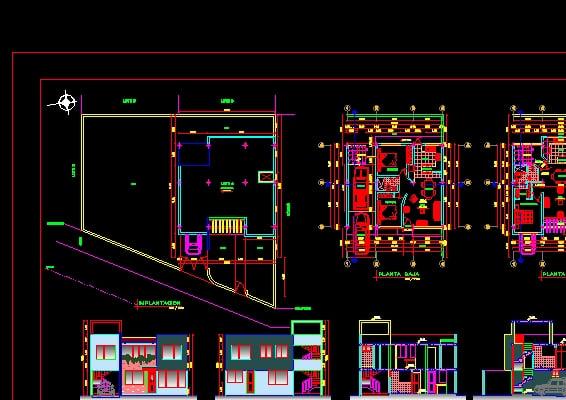 311920967e06 Casas de Dos Niveles - Descarga GRATIS de planos, archivos y bloques ...