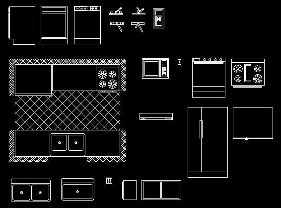 Descarga gratis bloques para cocina planos y bloques en for Planos de cocina industrial autocad