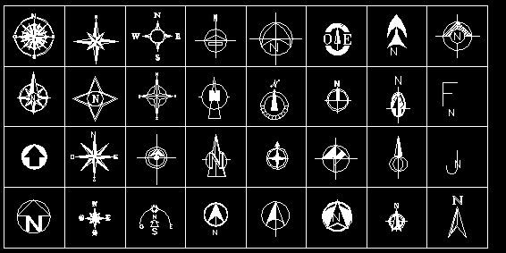 Descarga gratis simbologia norte planos y bloques en for Simbologia en planos arquitectonicos