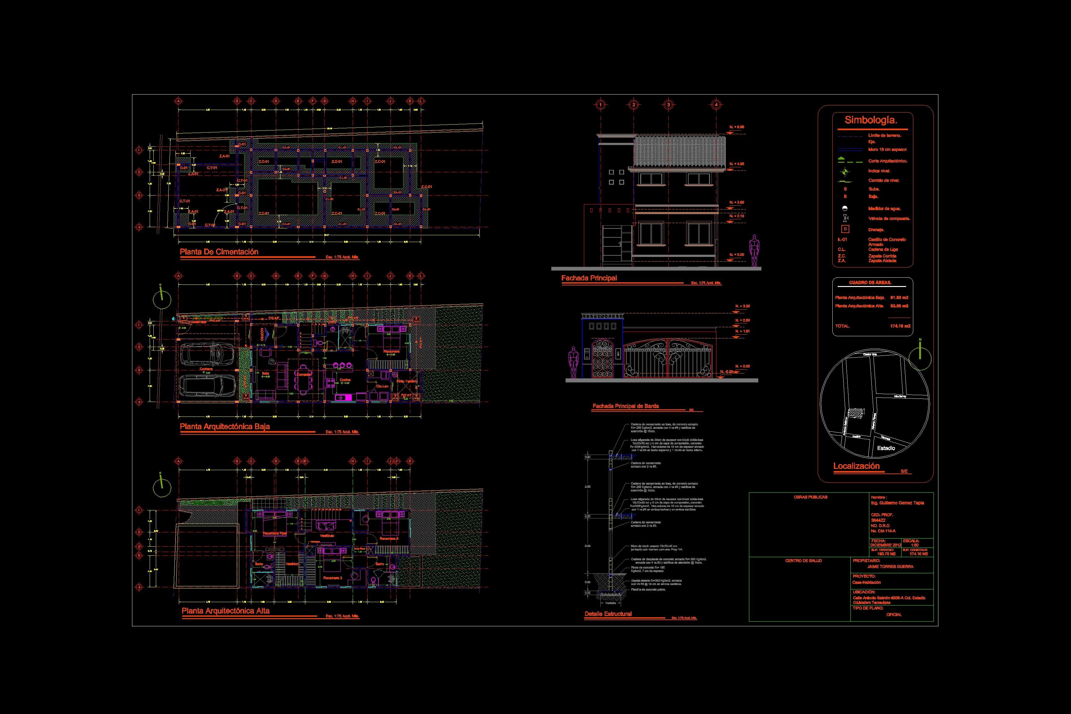 Descarga gratis plano ejecutivo planos y bloques en for Simbologia arquitectonica para planos