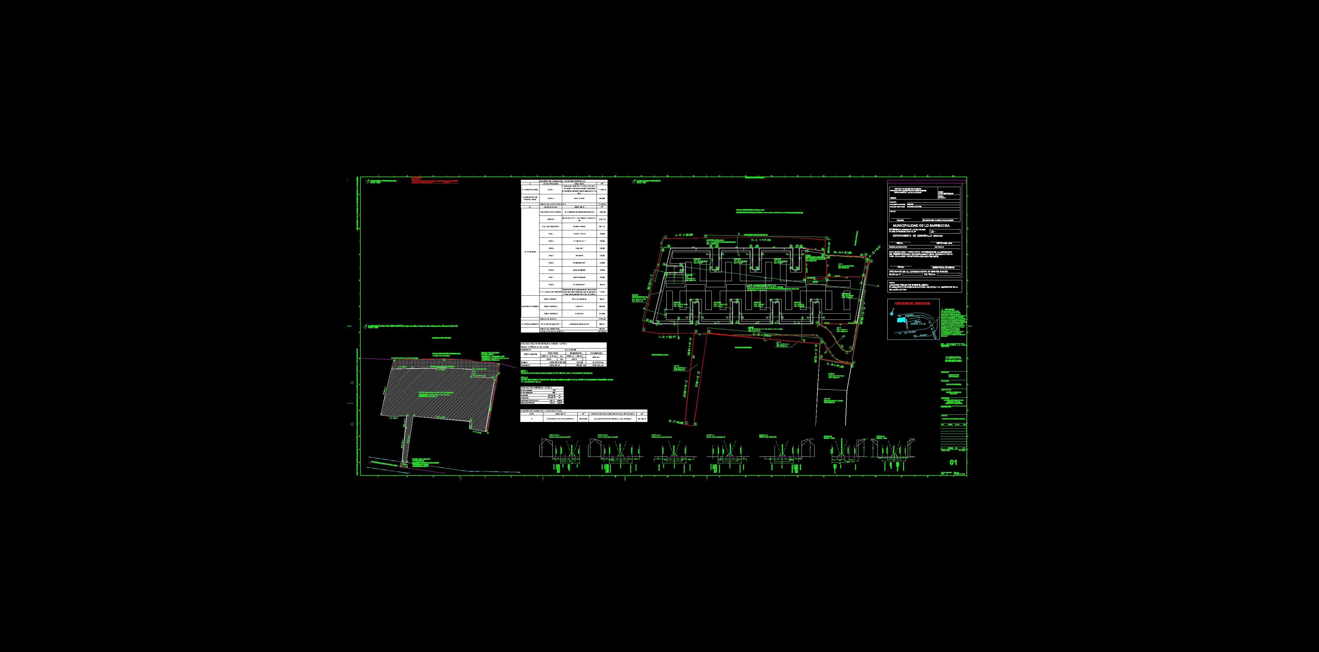 Proyecto de Aravena: Planos Urbanos de BARNECHEA por Aravena