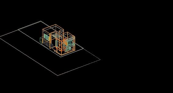 Descarga gratis 3d casa habitacion 2 niveles planos y for Habitacion 3d autocad