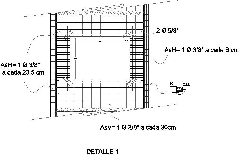 Detalle de armado de muro