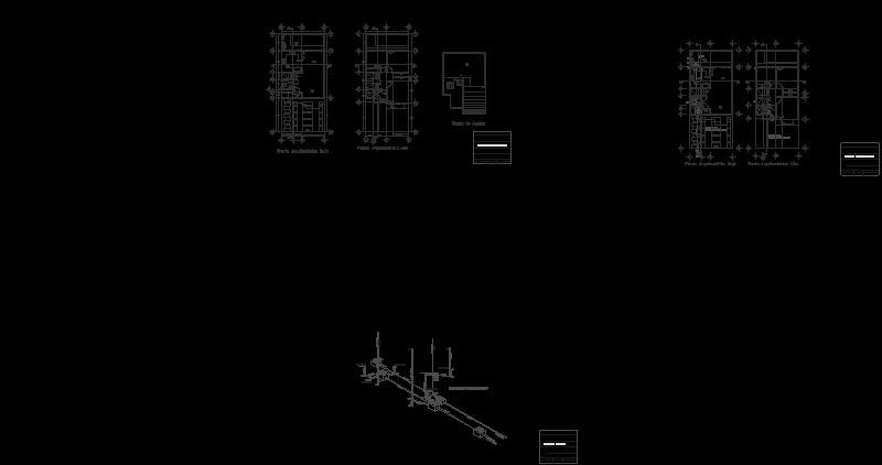 Instalación sanitaria con isometrico